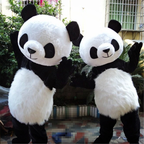 Black white giant panda mascot costumes cartoon for one piece & High Quality Panda Mascot Costume From Sichuan | Pandashock